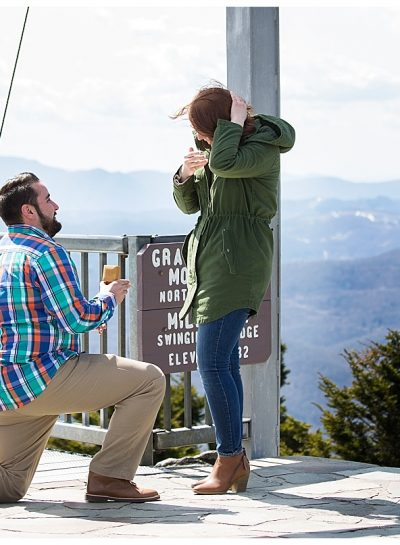 Surprise Proposal | Grandfather Mountain | Linville, NC